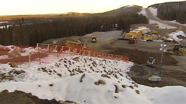 Travaux de la minière Rio Tinto IOC, à Labrador City