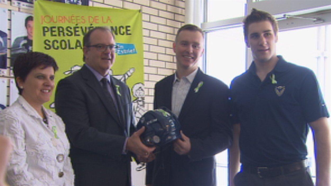 Les joueurs de l'équipe junior de hockey du Phoenix de Sherbrooke seront les ambassadeurs des Journées de la persévérance scolaire en Estrie.
