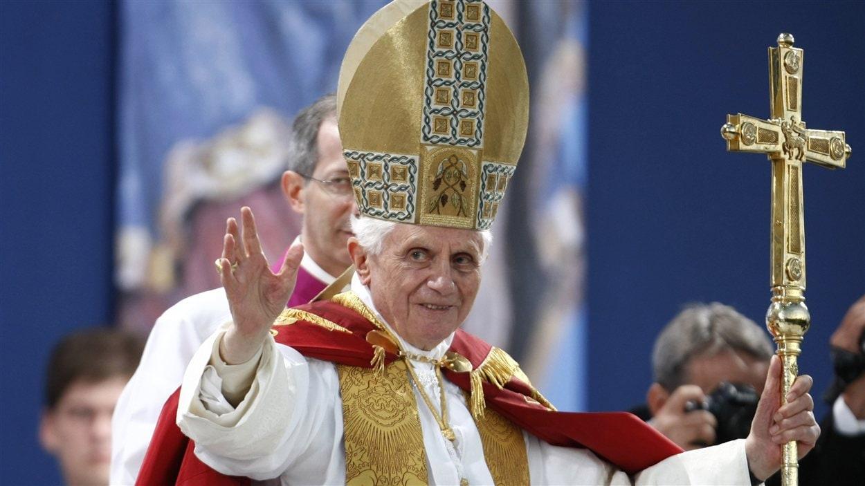 Le pape lors d'un voyage dans son Allemagne natale le 23 septembre 2011