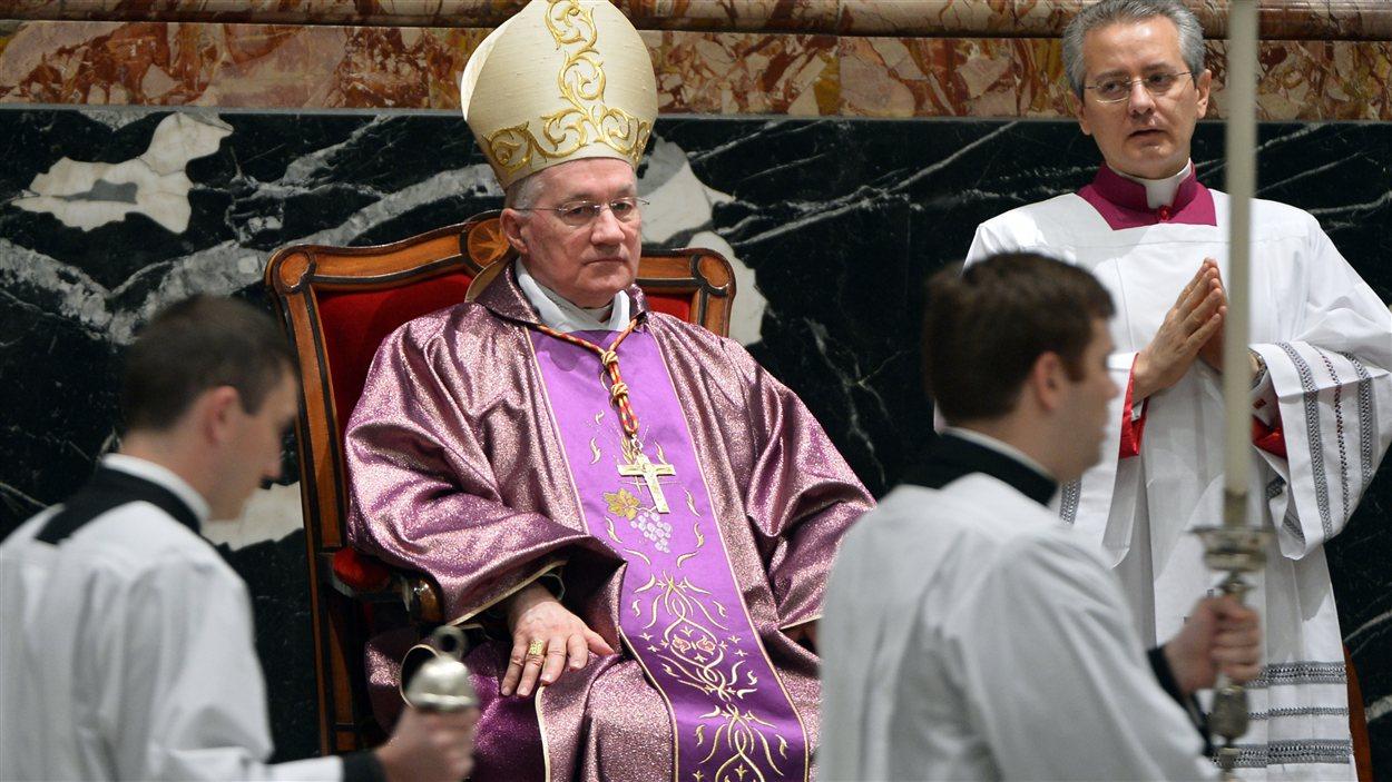 Marc Ouellet préside une cérémonie religieuse à la basilique Saint-Pierre de Rome en décembre 2012.