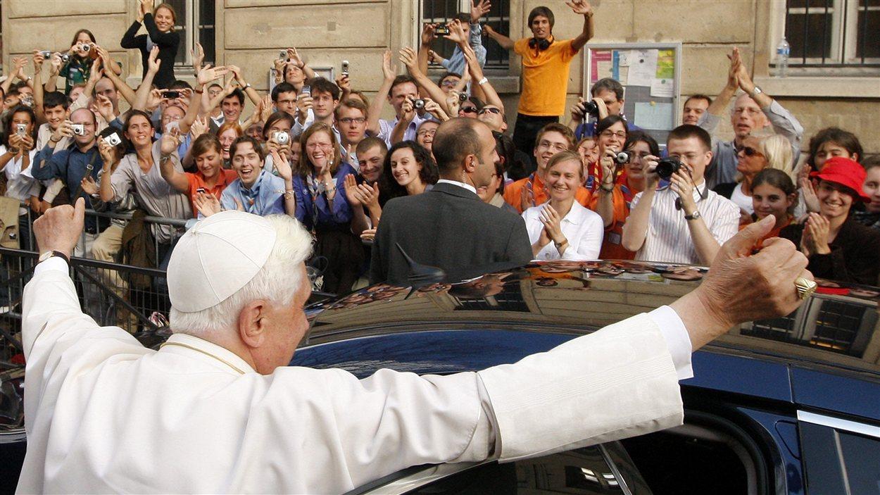 Le pape au collège des Bernardins de Paris le 12 septembre 2008.