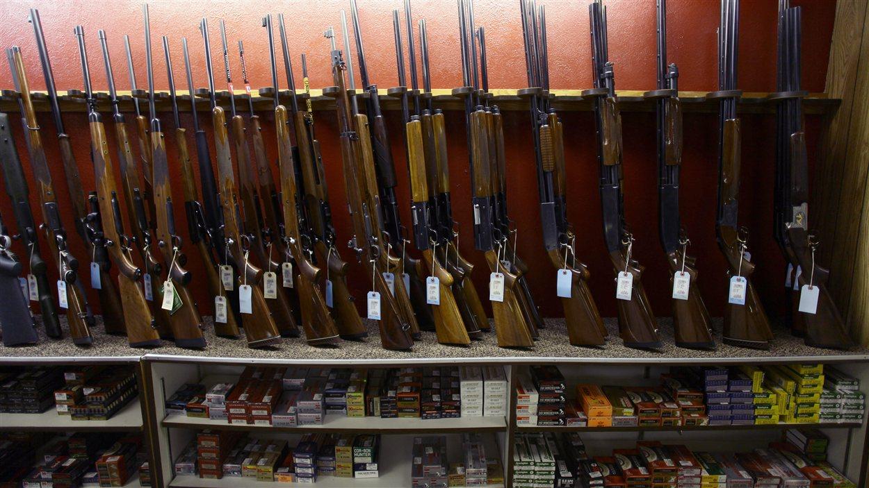 Un magasin d'armes à Aurora, au Colorado