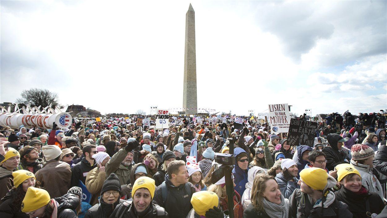 La manifestation à Washington, le 17 février