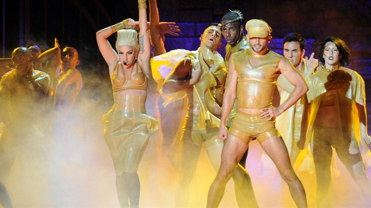 Lady Gaga lors de son concert au Centre Bell à Montréal