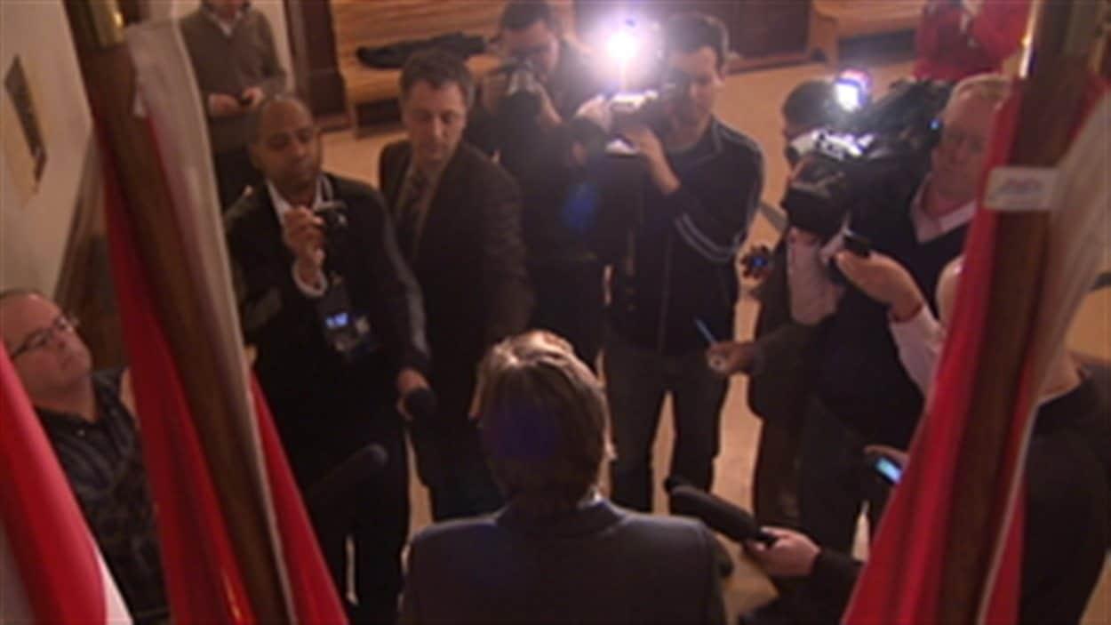 L'ancien premier ministre, Shawn Graham démissionne