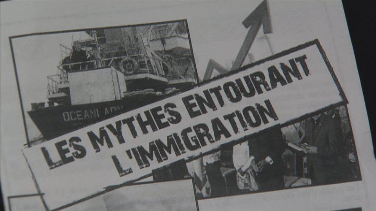 Tract de la Fédération des Québéecois de souche