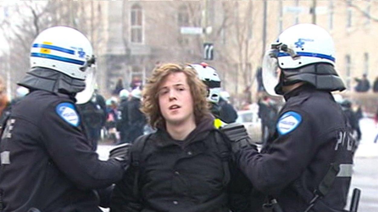 Une arrestation dans le cadre de la manifestation du 26 février