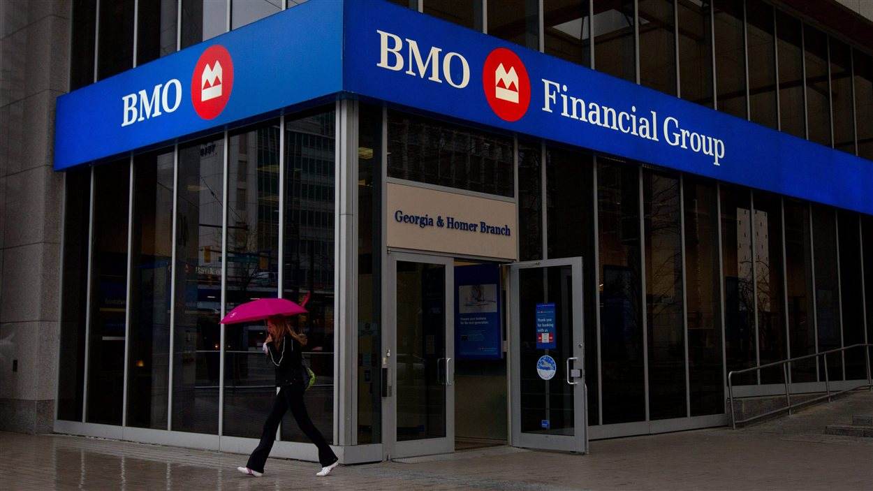 Une succursale de la BMO en Colombie-Britannique