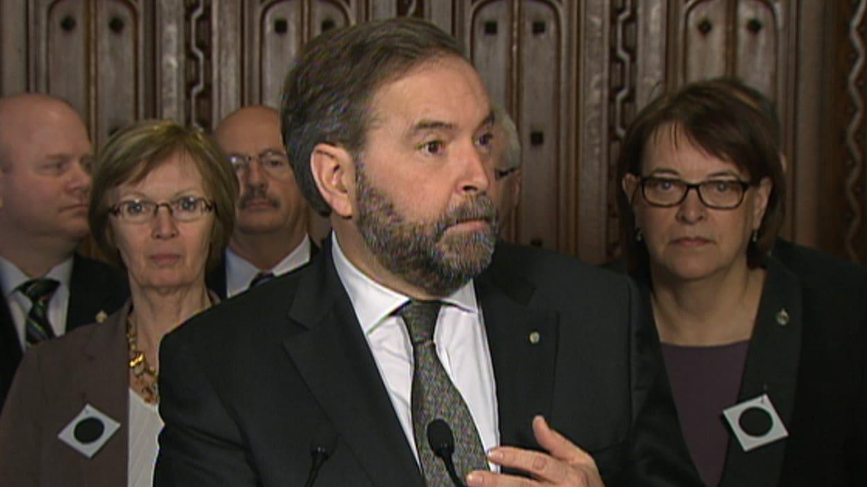 Le chef du NPD et de l'opposition officielle à la Chambre des communes, Thomas Mulcair