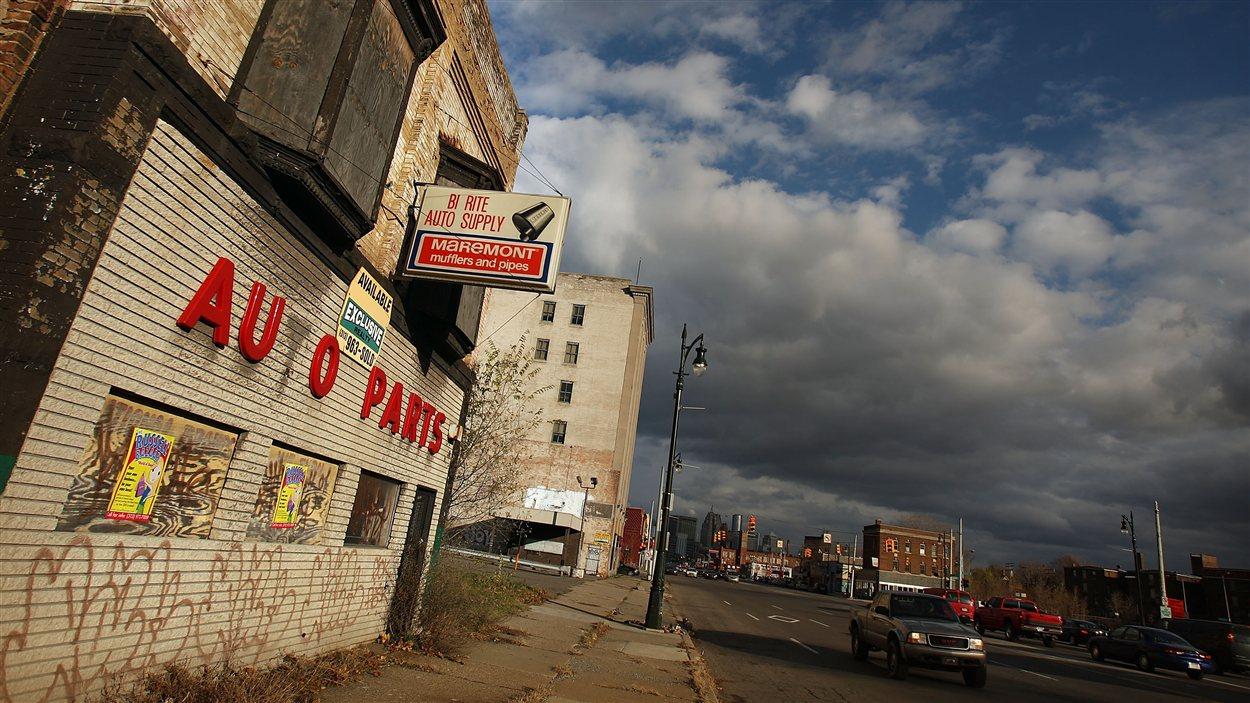 Commerce abandonné à Détroit