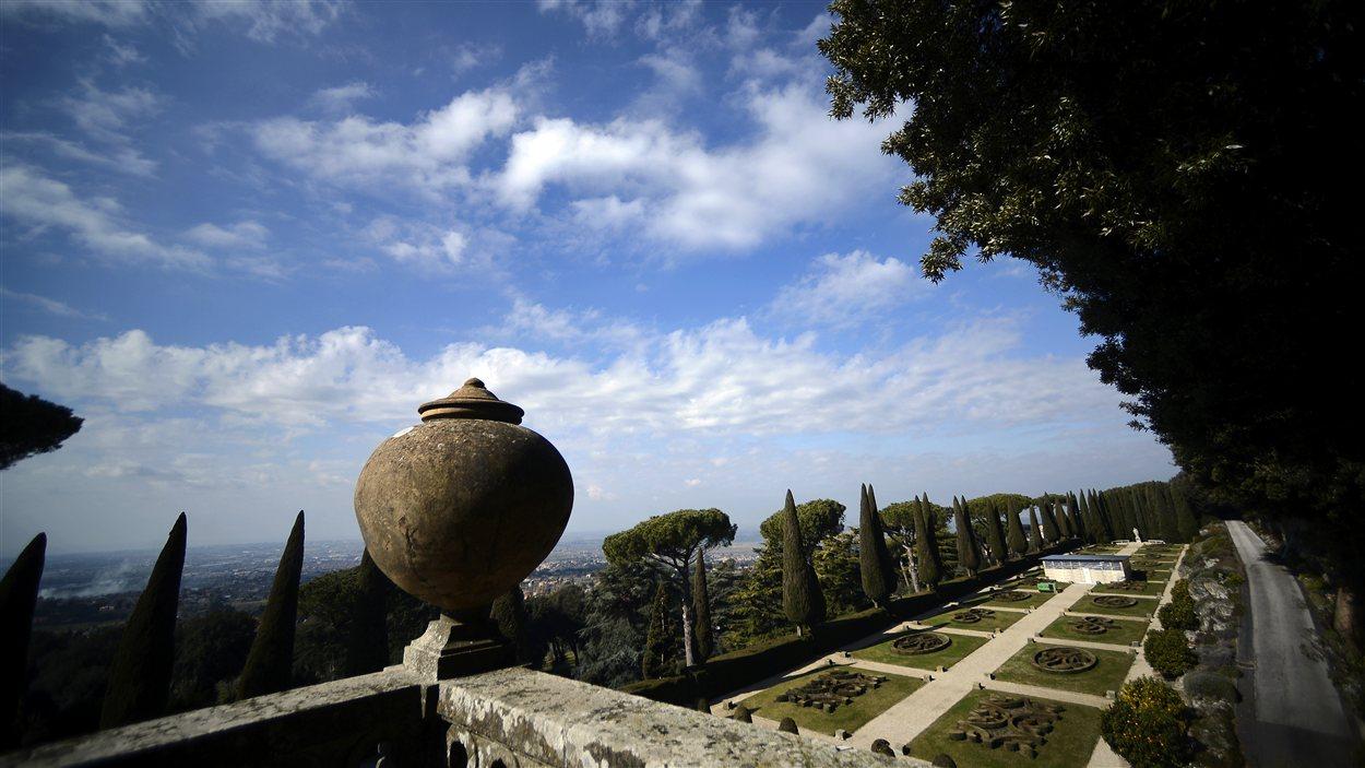 Les jardins de la résidence d'été des papes à Castel Gandolfo