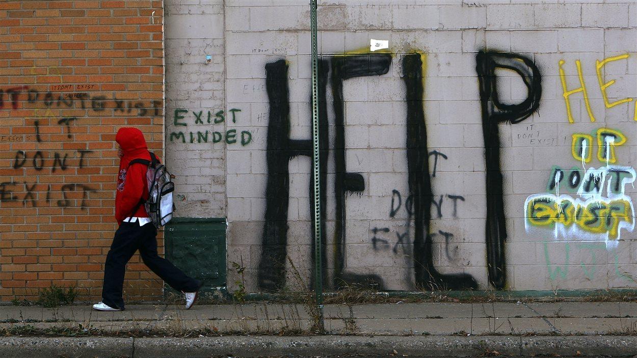 Graffitis à Détroit