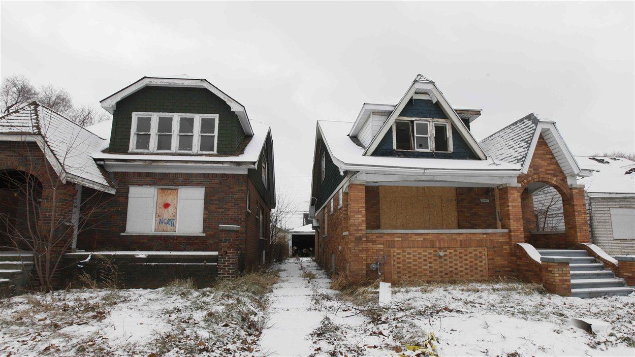 Maisons abandonnées à Détroit