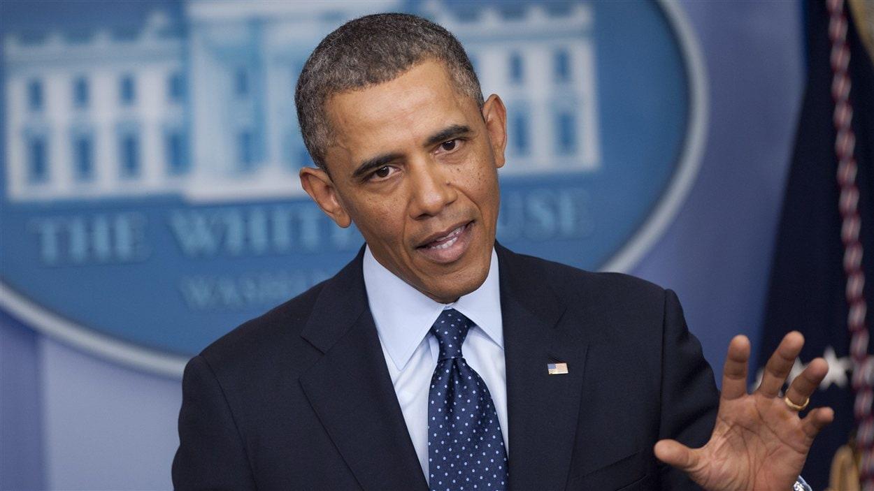 Le président américain Barack Obama s'adresse aux journalistes à la Maison-Blanche, vendredi 1er mars.