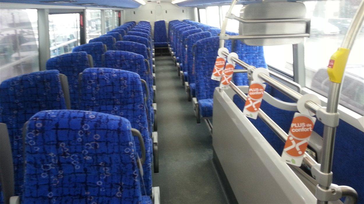 Le deuxième étage de l'autobus