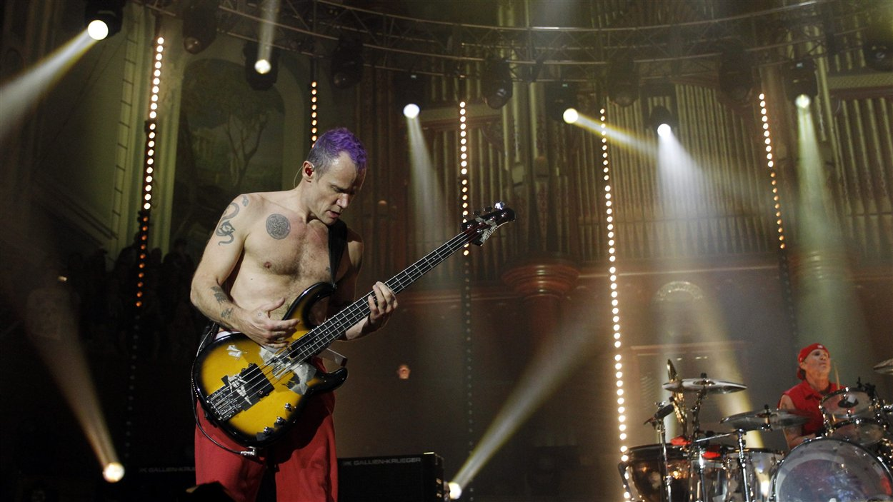 Flea, du groupe Red Hot Chili Peppers