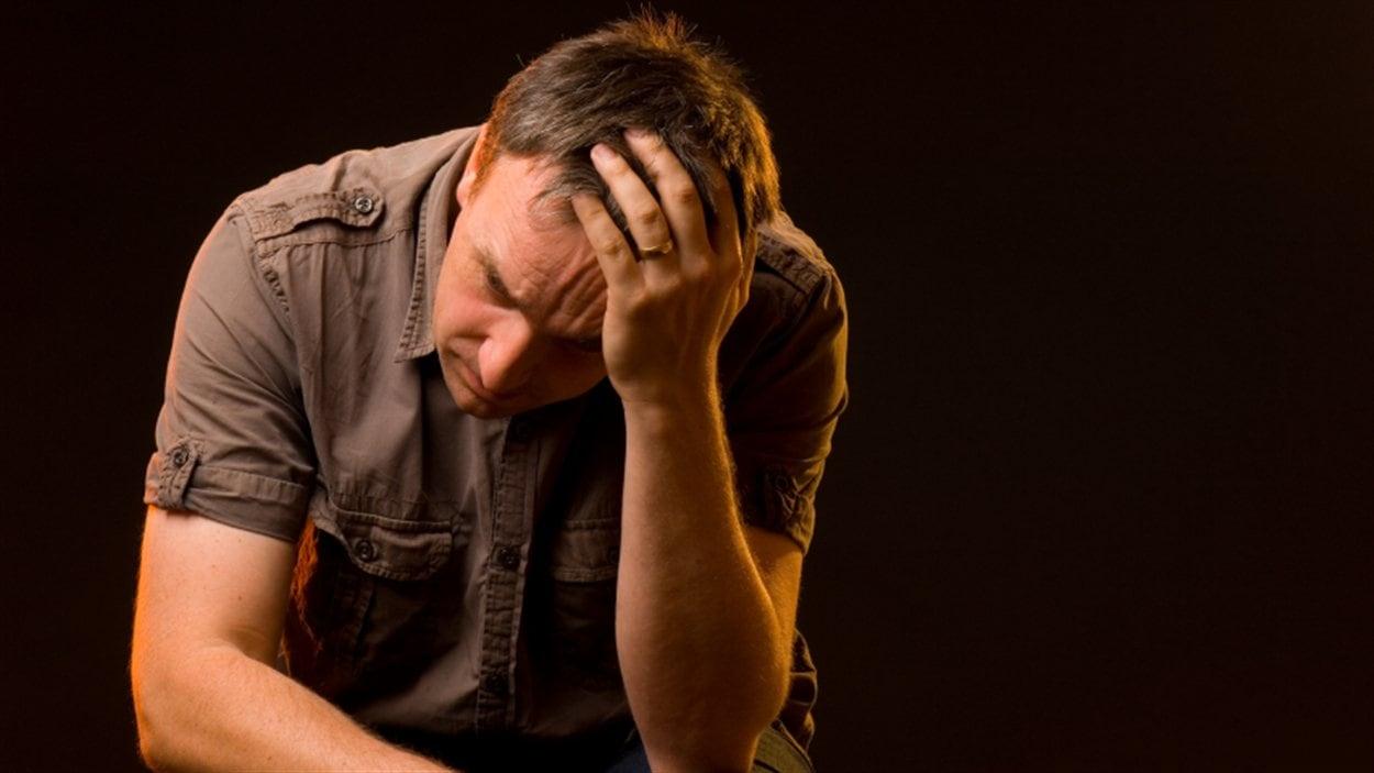 Un homme déprimé