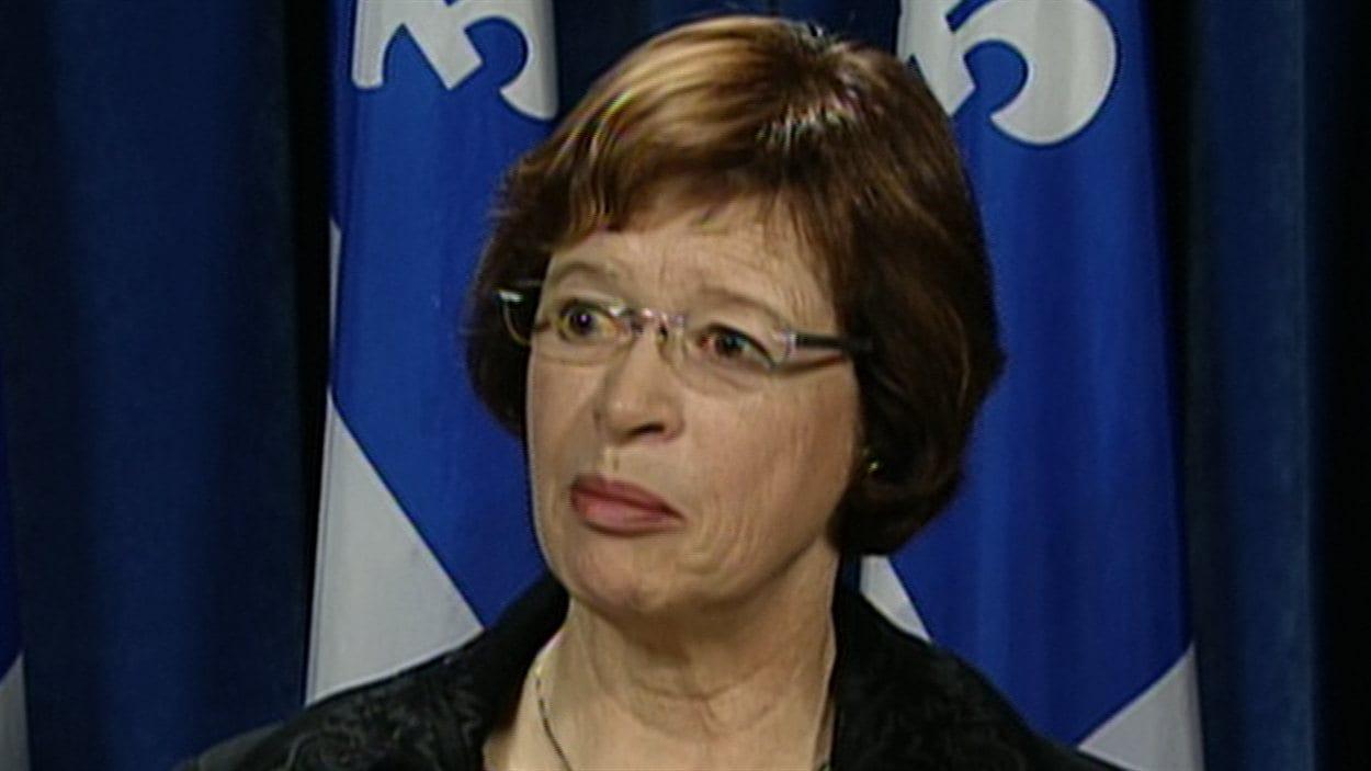 La ministre de l'Éducation Marie Malavoy