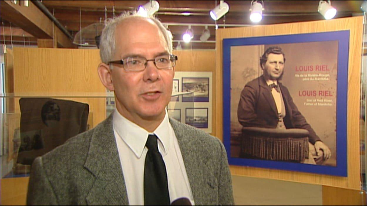 L'historien au Musée de Saint-Boniface, Philippe Mailhot