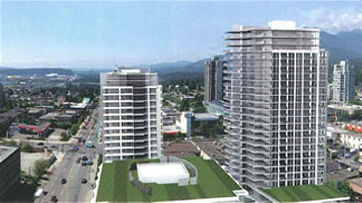 Maquette du projet proposé en décembre 2012 par Onni Group