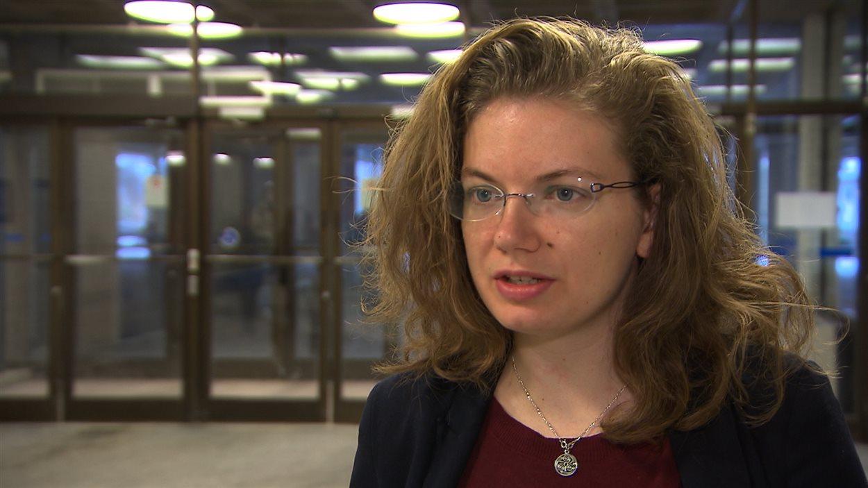 Blandine Parchemal, porte-parole de l'Association pour une solidarité syndicale étudiante (ASSE), le 12 mars 2013