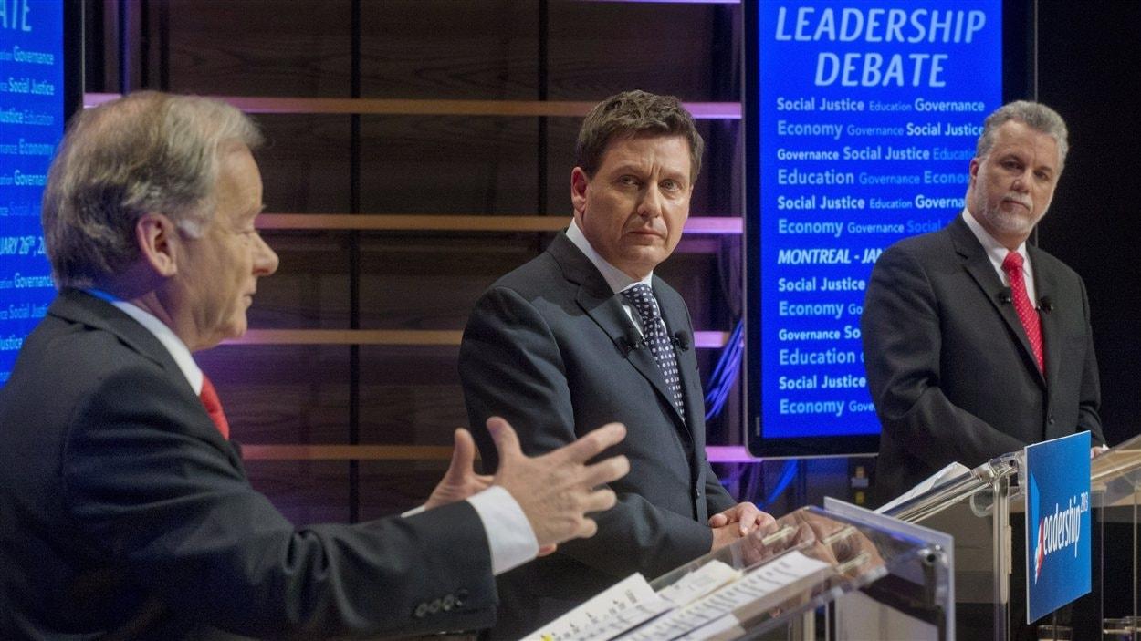 Le débat des candidats à la direction du PLQ à Concordia. | ©Presse canadienne/Graham Hughes