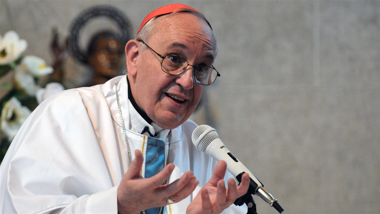 ARGENTINA, Buenos Aires : Undated file photo of Argentina's cardinal Jorge Mario Bergoglio as he speaks during a ceremony in Buenos Aires.