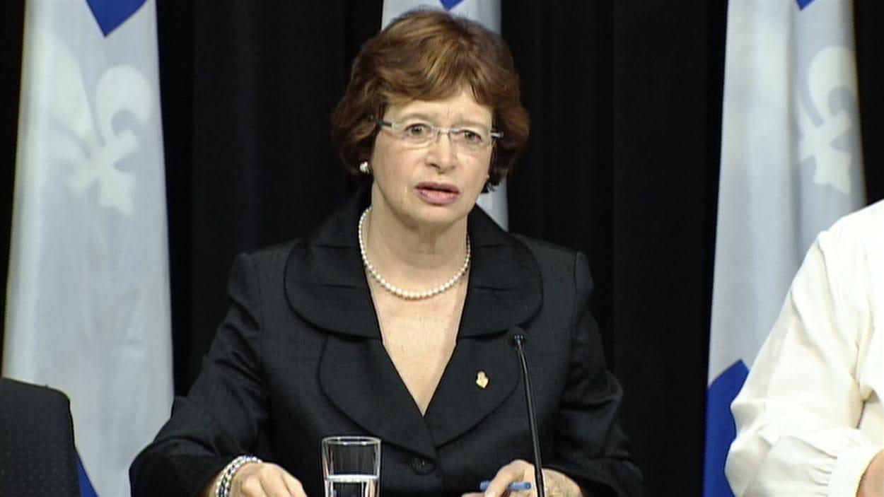 La ministre Marie Malavoy.