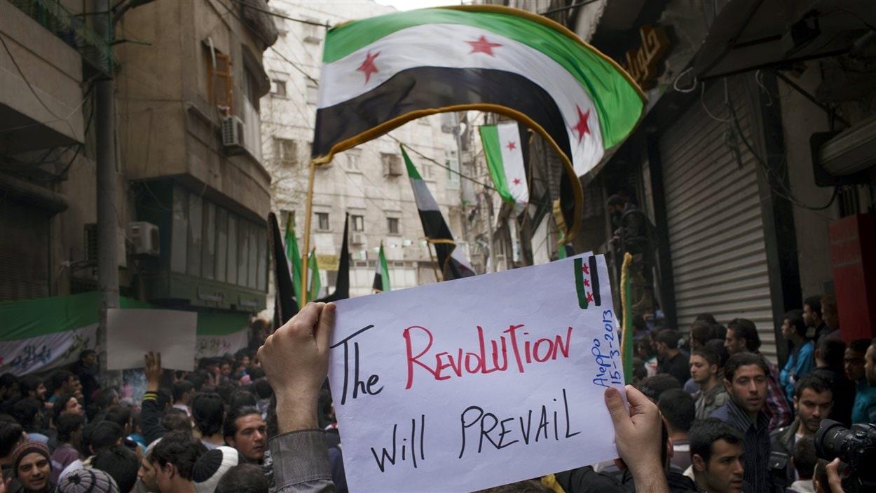 Une manifestation d'opposants au régime de Bachar Al-Assad, au deuxième anniversaire du début du soulèvement (archives)