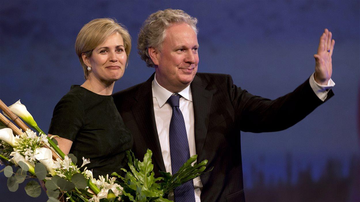 Jean Charest et sa femme, Michèle Dionne, le 16 mars 2013