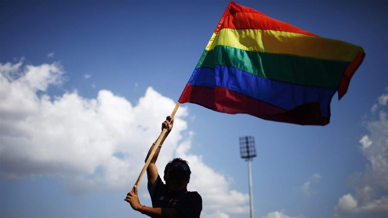 Le drapeau rassemblant la communauté LGBT