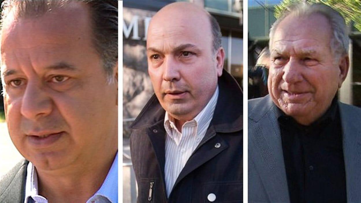Paolo Catania, Frank Zampino et Bernard Trépanier