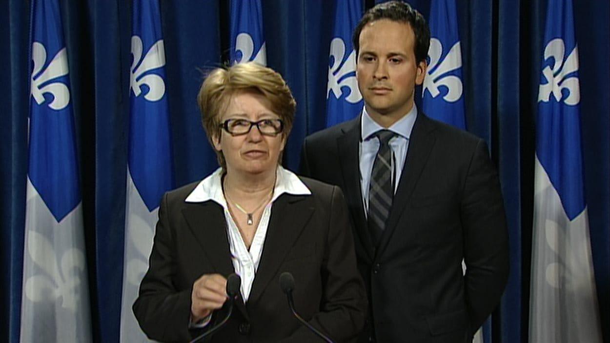 Les ministres Agnès Maltais et Alexandre Cloutier