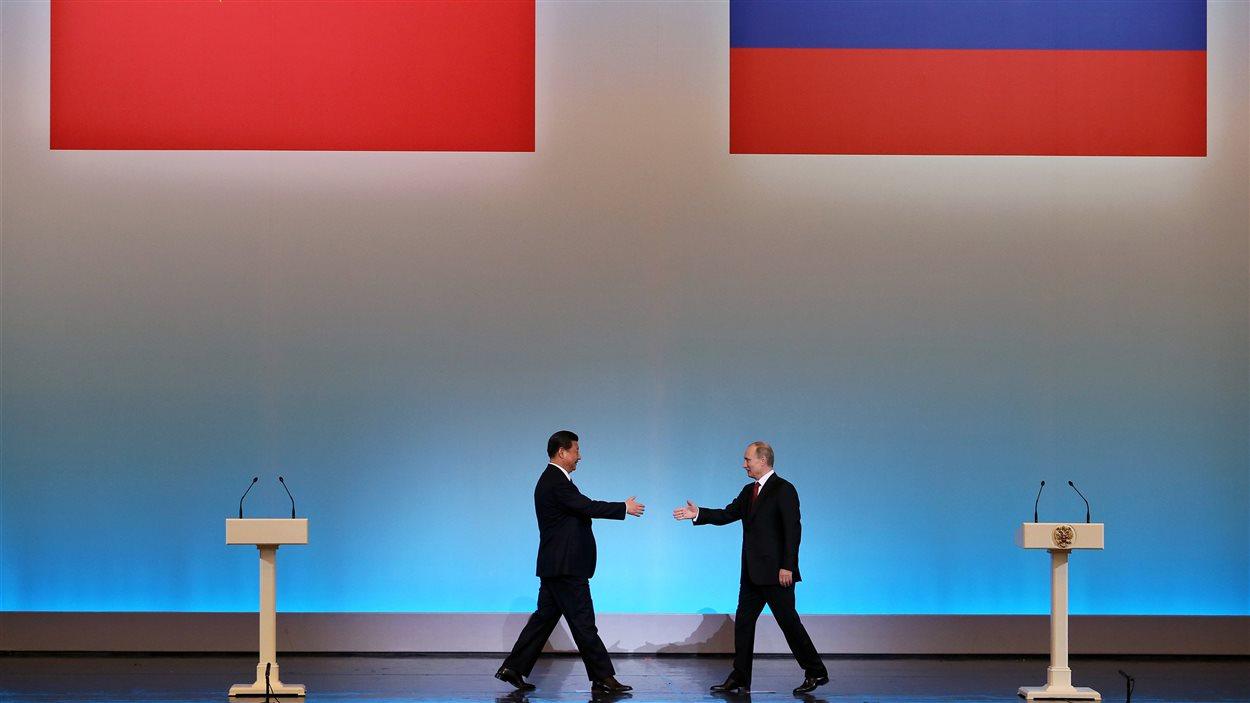 Le nouveau président chinois Xi Jinping a rendu sa première visite officielle à son homologue russe, Vladimir Poutine