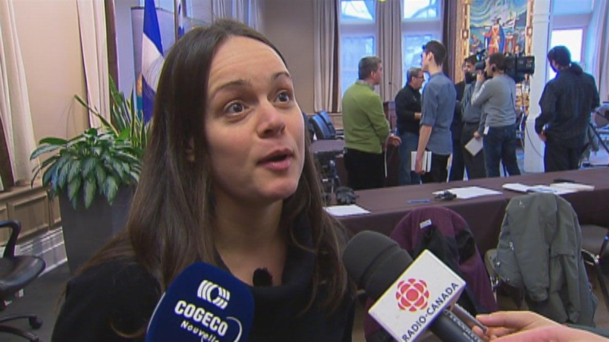 Véronique Lalande du Comité vigilance Port de Québec