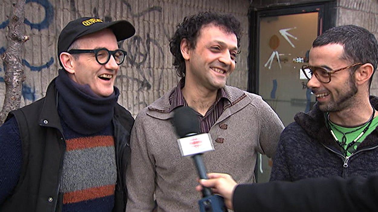 Serge Lavoie, Rudi Ochietti et Simon Pagé