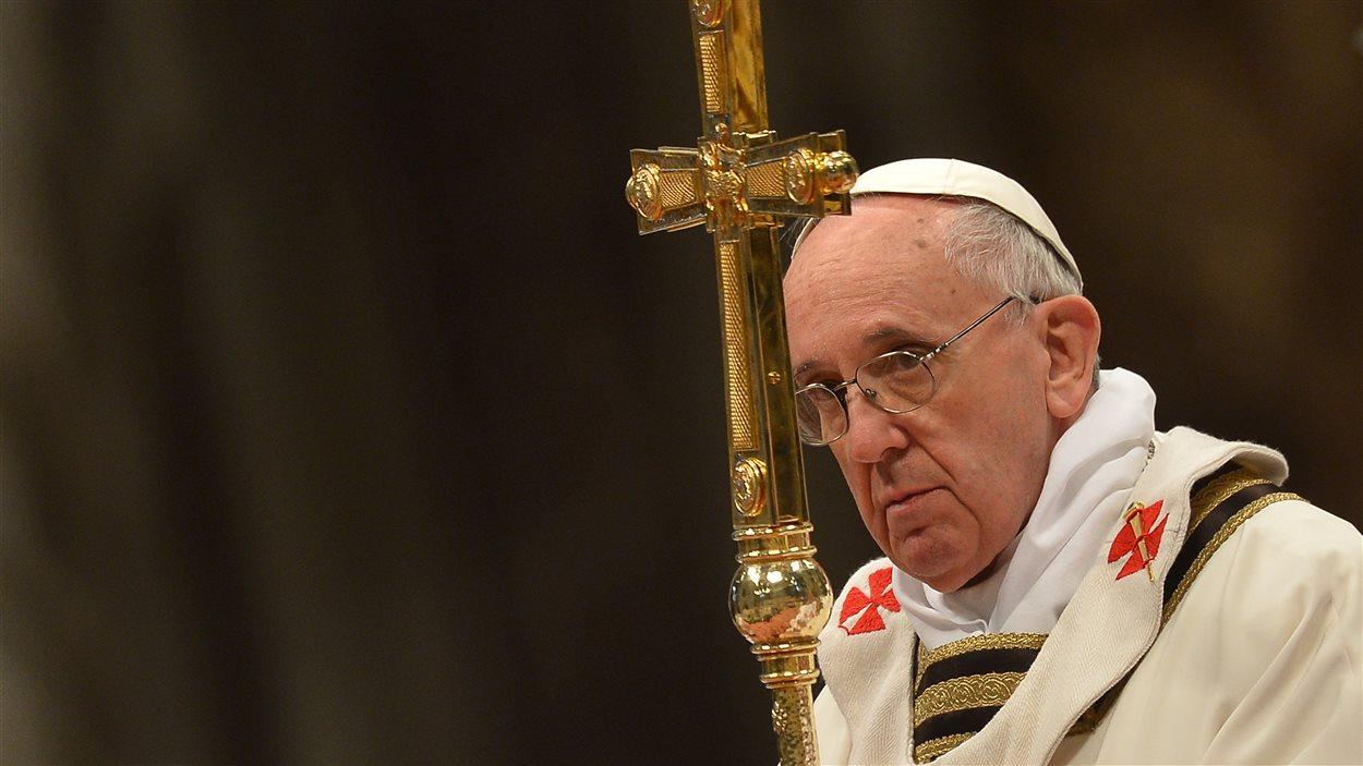 Le pape François célébrant la messe du Jeudi Saint