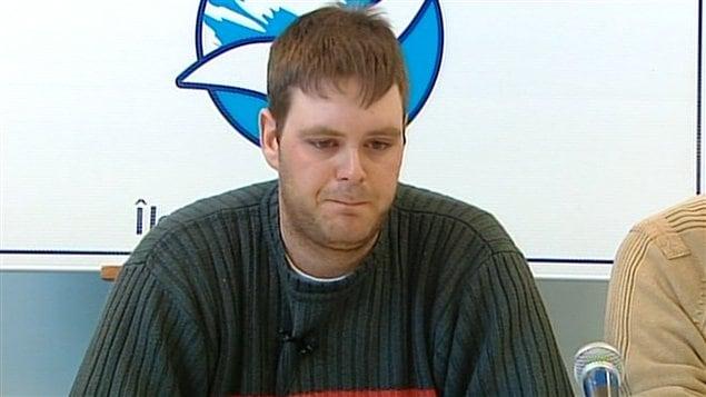 Claude Deraspe, survivant du nauvrage de l'Acadie II le 28 mars 2008