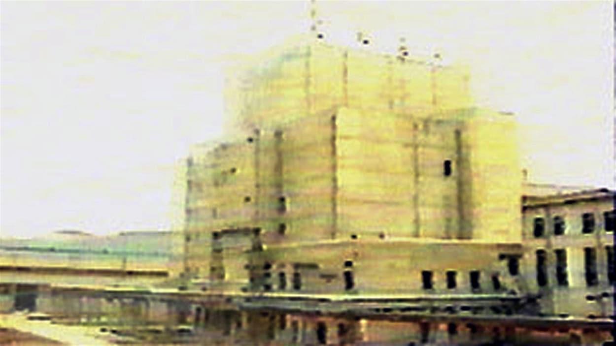 Une des rares photos de la centrale nucléaire de Yongbyon photograpiée ici en 1992.