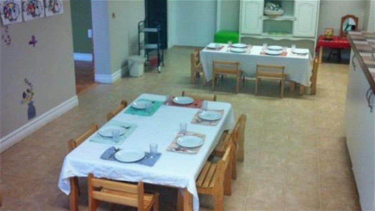 L'intérieur de la garderie Les racines de vie Montessori
