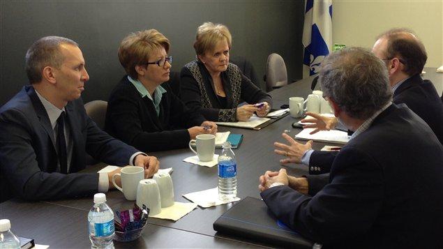 Rencontre entre la ministre Agnès Maltais et la Coalition Proprio-Béton