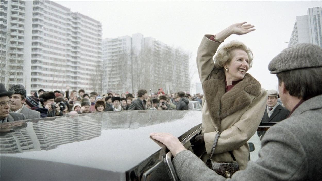 La première ministre britannique Margaret Thatcher à Moscou le 29 mars 1987.