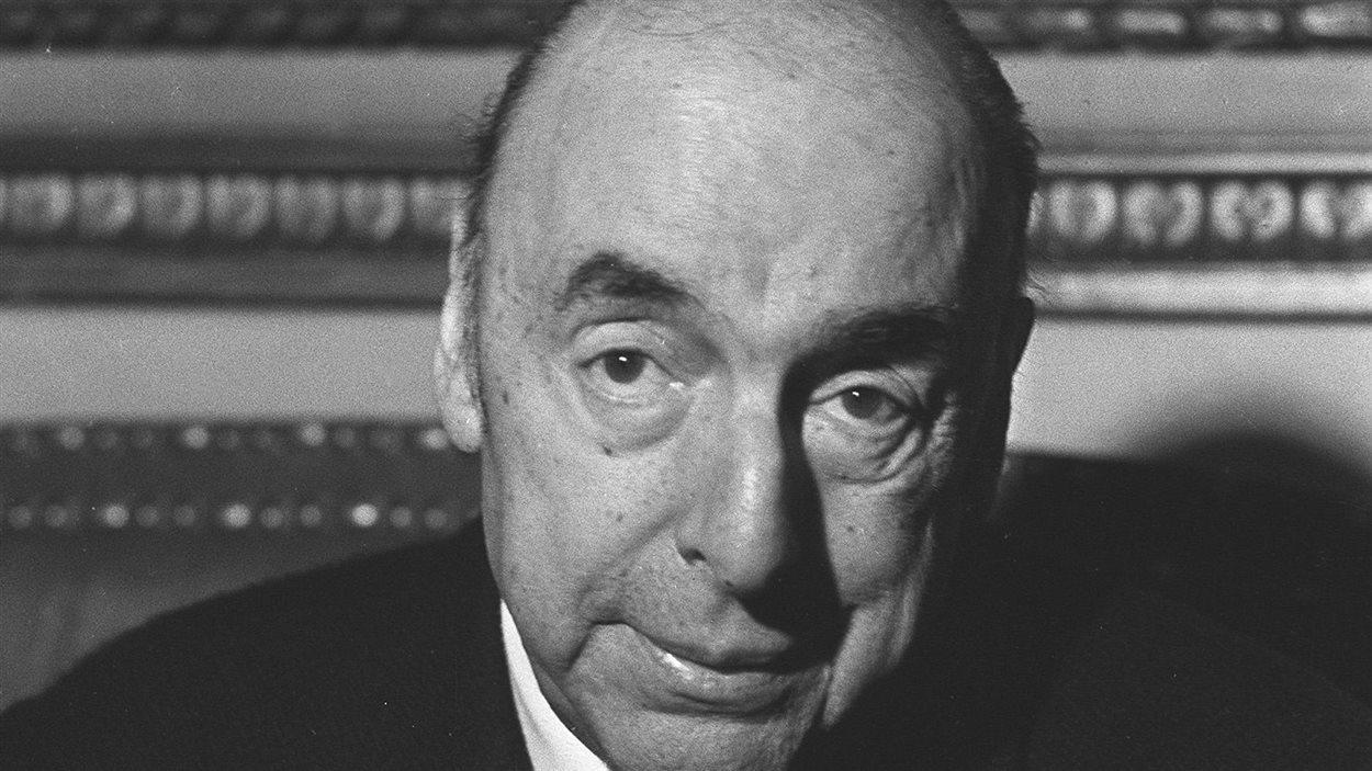 Pablo Neruda, le 21 octobre 1971, alors ambassadeur du Chili en France