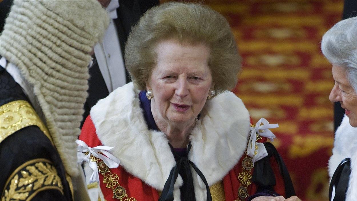 La baronne Margaret Thatcher au Parlement de Westminster, le 25 mai 2010.