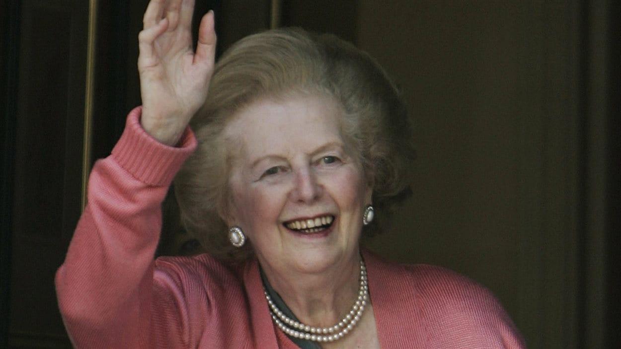 Margaret Thatcher après sa sortie de l'hôpital en juin 2009.