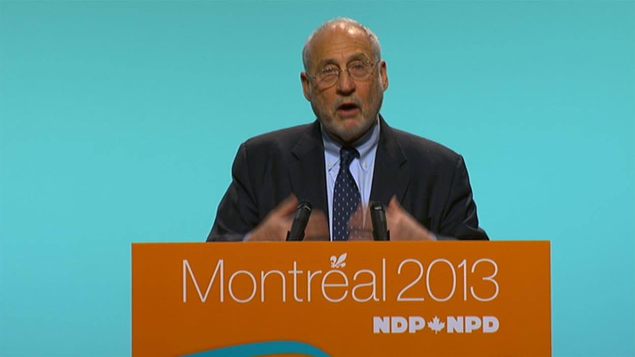 Le prix Nobel d'Économie Joseph Stiglitz, invité au Congrès du NPD.