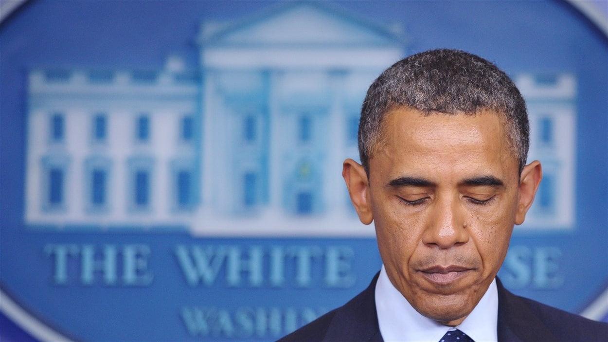 Le président Obama lors de sa conférence de presse après les explosions de Boston