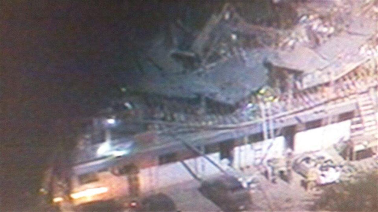Photo depuis un hélicoptère de l'usine où s'est produite l'explosion