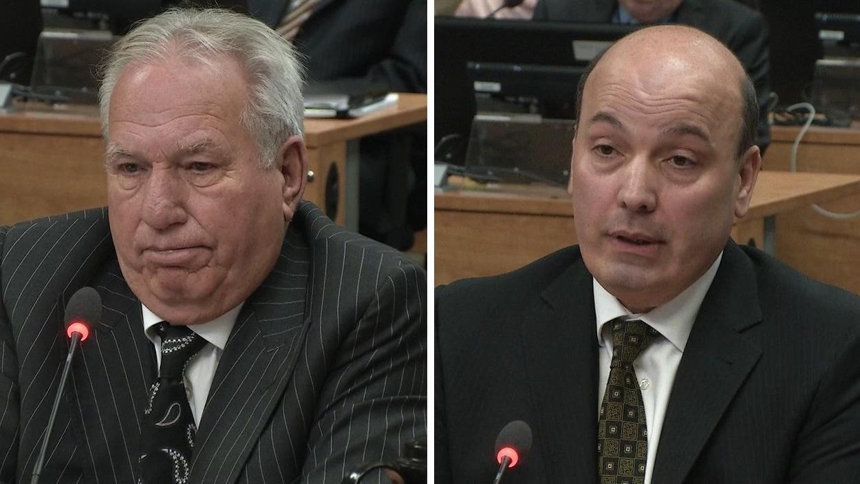 Bernard Trepanier et Frank Zampino