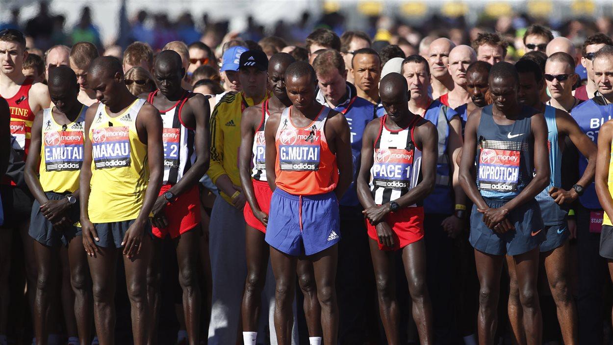 Moment de silence au marathon de Londres